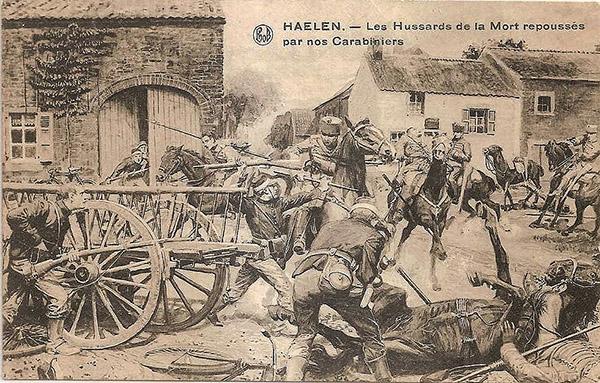 Bataille de Haelen 1914 Les carabiniers-cyclistes