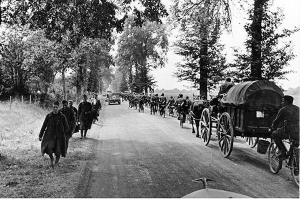 Belgien, Radfahrtruppen und Tross auf Vormarsch