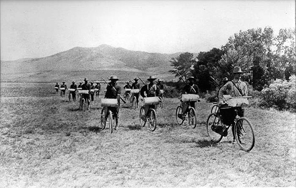 Bicycle Corp at Fort Missoula in 1897 самокатные войска