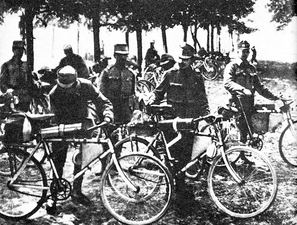 Bicycles of Austria-Hungarian army in Western Ukraine