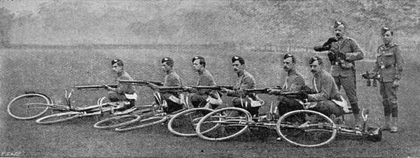 Bikes in barricade
