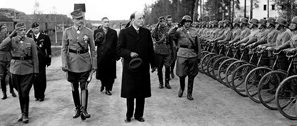 Carl Gustaf Emil Mannerheim, Marshal of Finland, and Risto Ryti, President of Finland in Enso on June 4, 1944