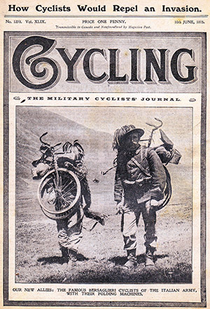 Cycling June 1915 Bersaglieri ciclisti
