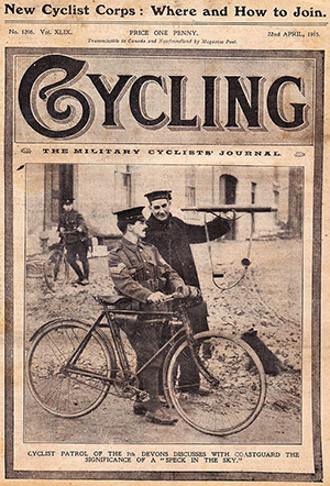Cyclist patrol of the 7th Devons_Cycling 1915
