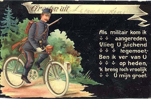 DUTCH MILITARY CYCLIST c 1910 военные велосипедисты