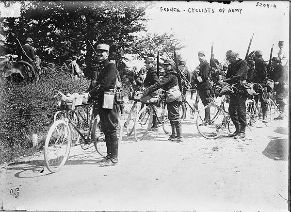 France Cyclists 1914-15 самокатные войска