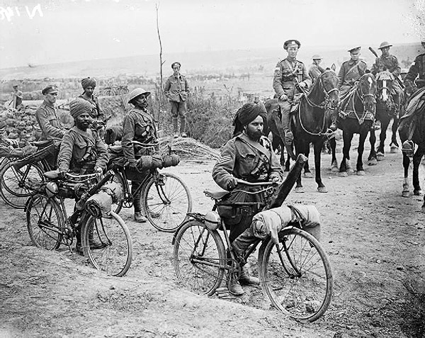 Indian bicycle troops Somme 1916 самокатные войска