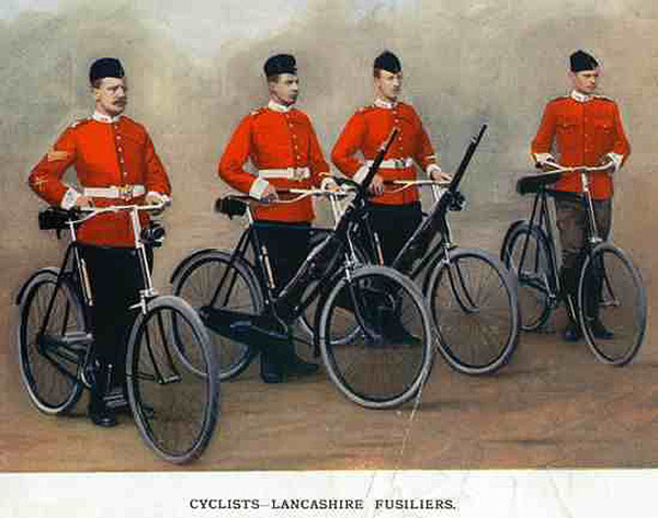 Lancashire Cyclists военные самокатчики