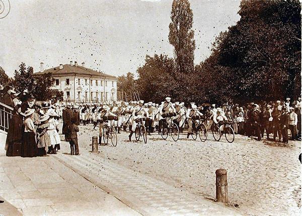Poltava 1900 Russian cadets самокатные войска