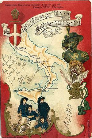 Reggimentale 9° BERSAGLIERI Pattuglia Ciclisti 1917