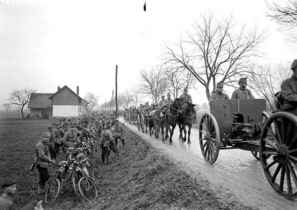 Swiss Radfahrer + Artillerie 1914-1918
