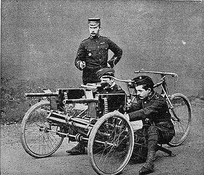 Tandem Maxim gun
