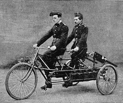 Tandem with machine gun