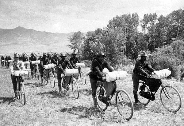 US 25th Infantry regiment on bicycles
