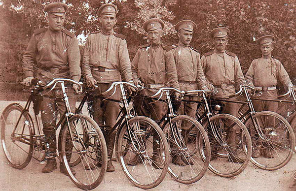WWI cyclists russian imperial army