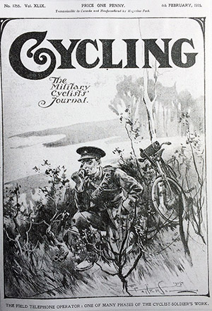 field telephone cyclist WWI 1915