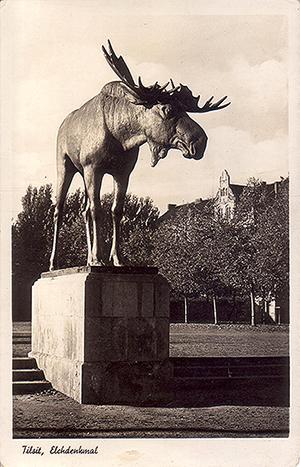 Tilsit памятник лосю