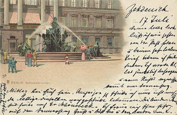 Berlin Neptunbrunnen 1899