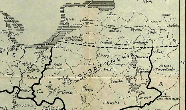 Soviet-Polish border in East Prussia 1945 польско-советская граница в восточной пруссии