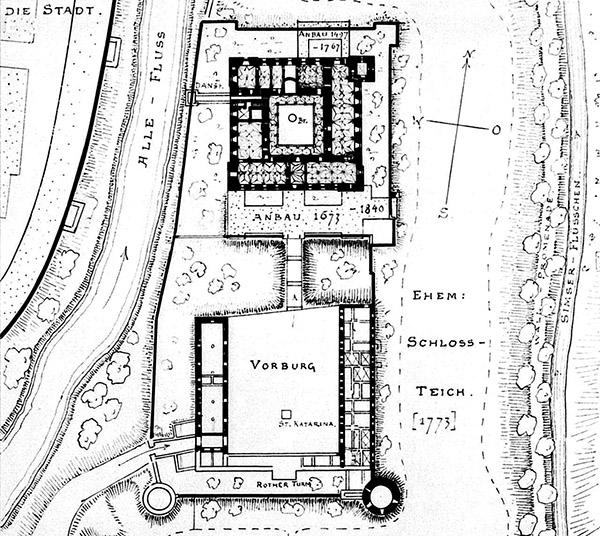Heilsberg Schloss plan Konrad Shteinbrecht ca. 1900x