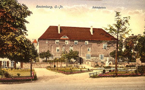 Rasteburg Schlossplatz 1920