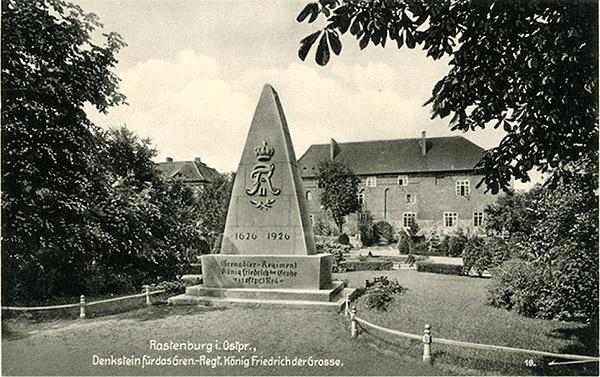 Rastenburg Schloss Denkstein 1926