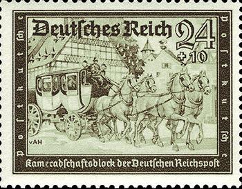 Axster Heudtlass Reichspost Postkutsche 1939