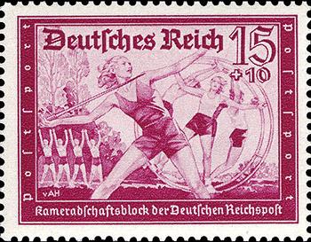 Axster Heudtlass Reichspost Postsport 1939