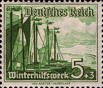 Axster Heudtlass Winterhilfswerk Kurische Nehrung Fischerboote 1937
