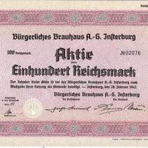 Инстербургское пивоварение в воспоминаниях