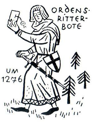 Ordensbote история почты Почтовая служба Немецкого ордена
