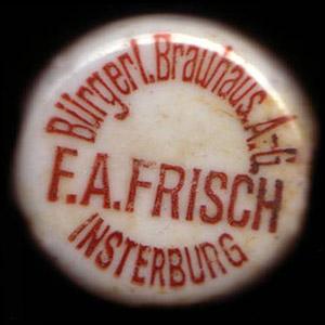 Buergerliches Brauhaus F.A. Frisch Insterburg инстербургское пиво