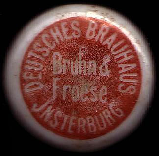 Deutsches Brauhaus Bruhn & Froese Insterburg пиво инстербурга