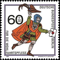 Briefbote im 15 Jahrhundert почта Немецкого ордена
