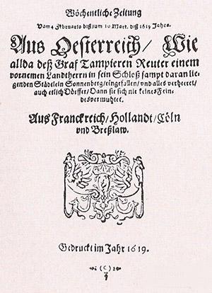Danziger Postzeitung 1619 история почты
