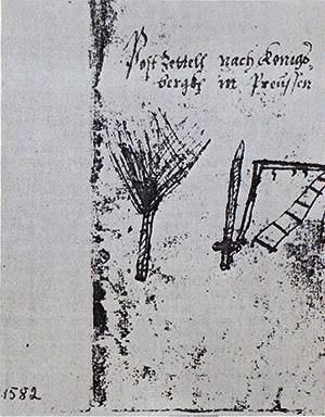 Post nach Koenigsberg 1582 история почты