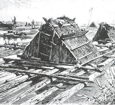 Holzfloß Dzimkenhaus