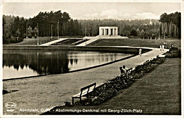 Allenstein Abstimmungsdenkmal mit Georg-Zülch-Platz