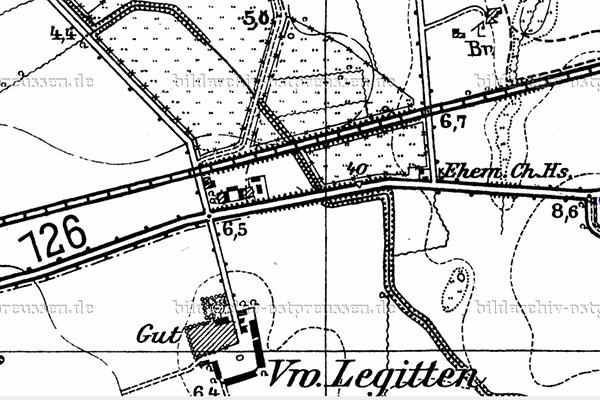 Gross Legitten-Turgenevo Chaussee 126 map