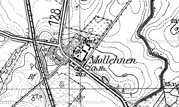 Mollehnen - Kashtanovka Chaussehaus map