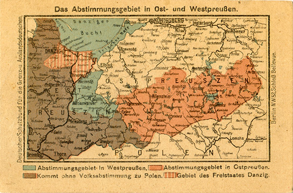 Ostpreußen Abstimmungsgebiet 1921