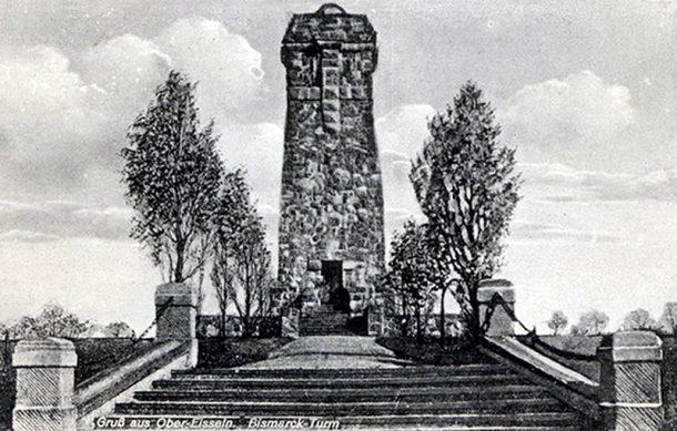 Башня Бисмарка под Рагнитом. 1930-е гг.