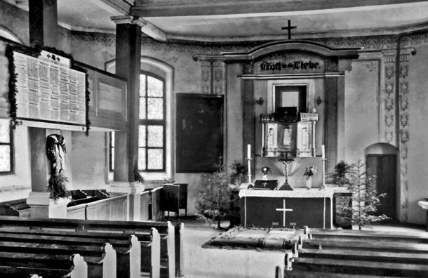 Мемориальная (памятная) табличка в кирхе Гавайтен/Гаврилово, Озёрский район, 1930-е гг.