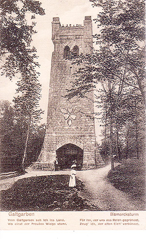 Galtgarben Bismarck Turm 1912