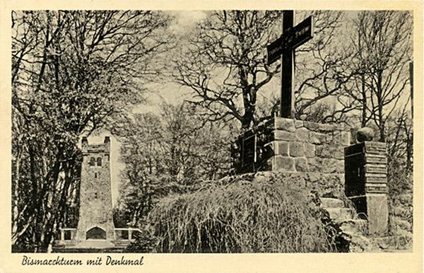Galtgarben Bismarckturm mit Denkmal