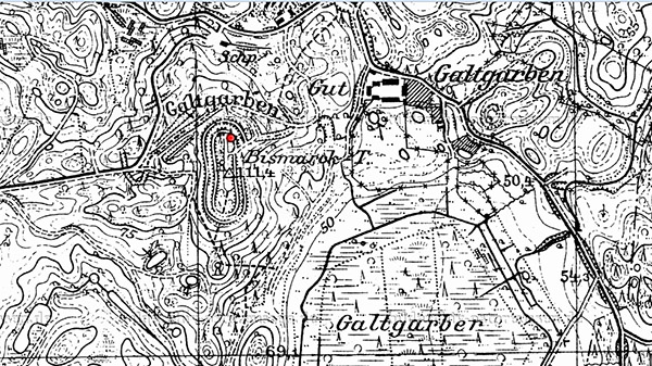 Galtgarben map башни бисмарка