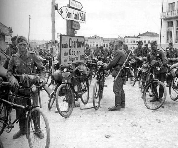Wehrmacht truppenfahrrad Ukraine WWII