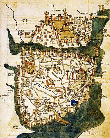 карта константинополя 1422