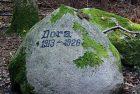 Памятный камень собаке Доре